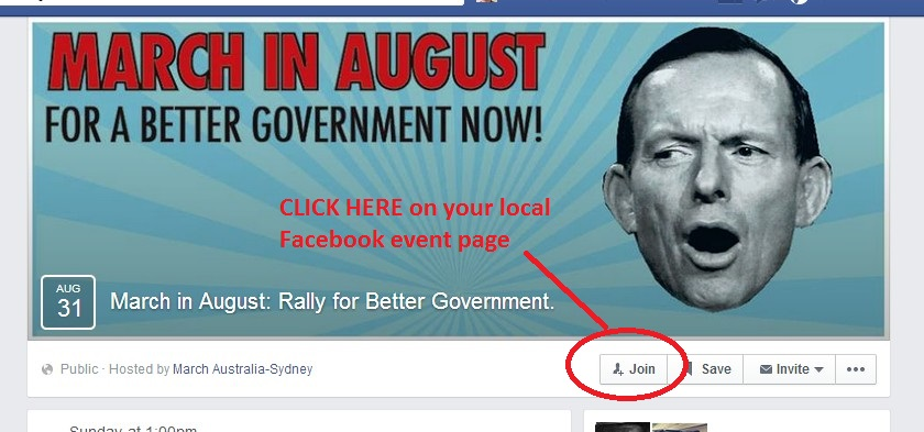Click join on the facebook event page